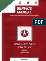 90 Dodge Truck Diesel SM Supp