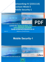 Widyatama.lecture.applied Networking.iv Week05 Mobile Security 1