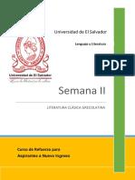 Comunicación Literaria - Literatura Clásica Grecolatina