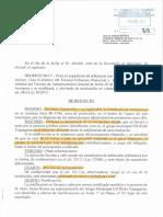 UGARTEko  MARKESINA - decreto de alcaldía para derribarla