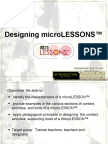 Designing Microlesson
