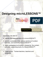 Designing Microlesson