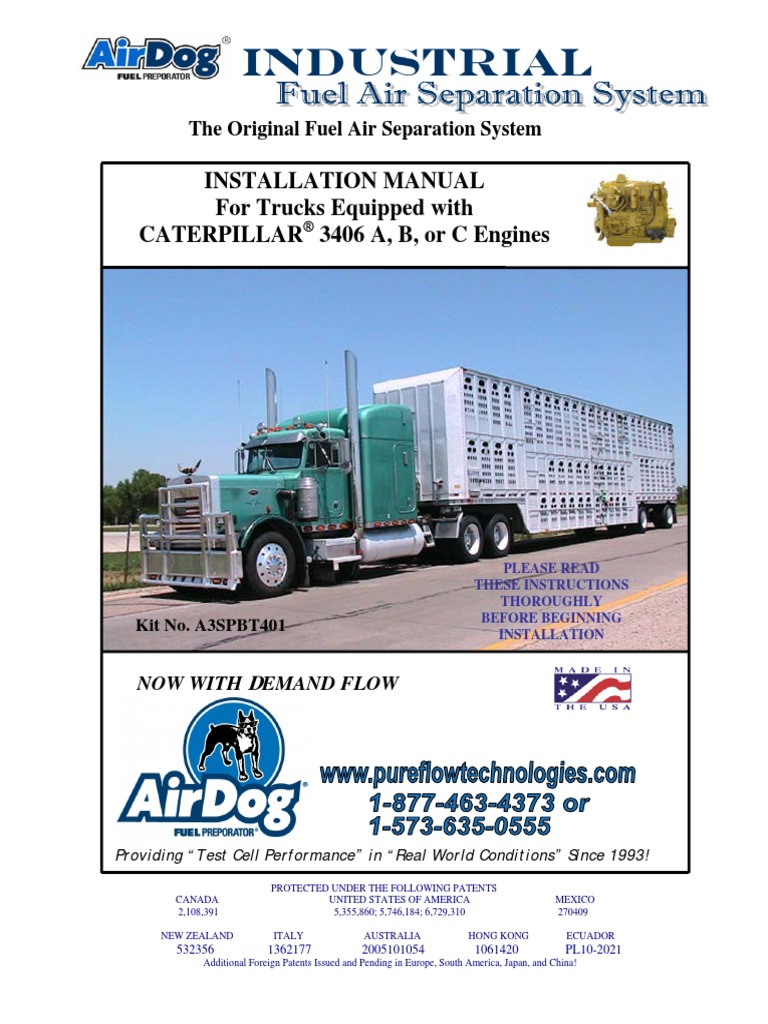Cat Installation Manual For 3406 A B C Diesel Engine Fuel Airdog Wiring Diagrams Injection