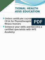 Ppt - Ihfe Academy