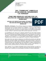 050217 Capturado Alias Tombolin Cabecilla Terraza