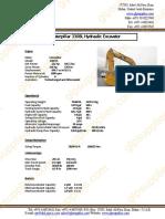 Datasheet for Caterpillar 330BL