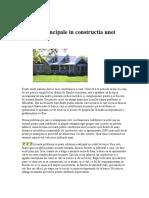 Etapele Principale in Constructia Unei Case