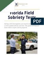 Redavid Florida Field Sobriety Exercises