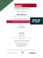 spinning certification