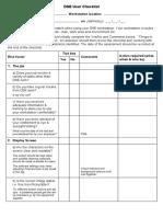 Dse Checklist