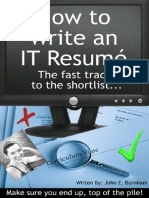 How to Write an IT Resume - John E. Burnham