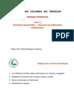 02-FINANZAS OPERATIVAS CAPITULO 2 Parte 2 Tasas de Los Mercados Financieros