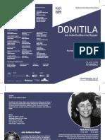 Homenagem a Heidi Lazzarini - Domitila, de João Guilherme Ripper (programa de sala)