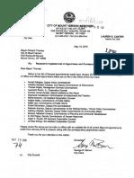 City Clerk Letters to Mayor Thomas