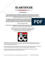 D&D5e - Class - Artificer of Alancia (Print Friendly)