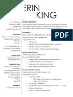 erin king resume 2017