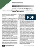 Analisis de Los Supuestos de Excepcion, Flexibilizacion y Extorno de Los Importes Ingresados Como Recaudacion de Las Cuentas de Detraccion