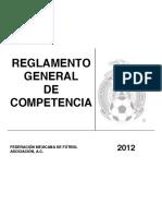 Reglamento General de Competencia 2012 Del Futbol Mexicano