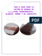 Formula Comercial Elaboracion Barra de Glicerina Transparente Refundible