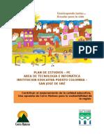 PE  Area de Tecnología e Informática reestructurado (4-9°)
