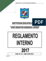 Reglamento Interno Institucion Educativa Nº 1156 JSBL 2017 Ccesa007