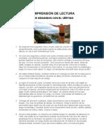 COMPRENSI+ôN DE LECTURA TRES SEGUNDOS CON EL VERTIGO