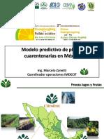 21.- Modelo Predictivo de Plagas Cuarentenarias en México