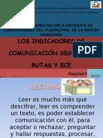 Indicadores Rutas y ECE Comunicación