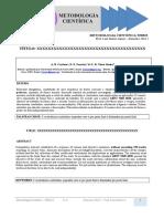 Modelo Artigo Metodologia Científica 2016 2