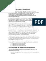 Administración Pública Centralizada