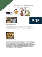 5 Diferentes Aparatos Electricos Que Se Utilizan en La Cocicna