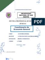 Cuestionario de Economia p