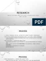 research process notes zachry