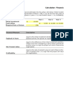 Financial Measures Calculator