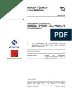 NTC 296 Dimensiones Modulares de Ladrillo, Piezas Ceramicas y Arcilla Cocida