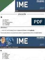 IME 2017 - Inglês - 2ª Fase