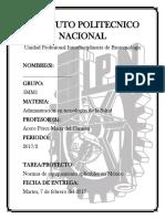 Listado de Normas para el equipo necesario en Mexico