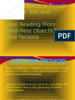 Camera-Based Assistive Text and Product Label Reading for Blind Persons