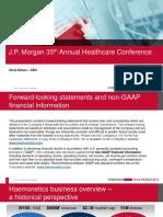 Haemonetics JP Morgan Hc Conf