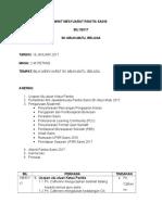 Minit Mesyuarat Panitia Sains 2017