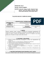 taller de análisis y diseño de cargos