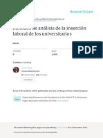 Métodos de Análisis de La Inserción Laboral de Los Universitarios