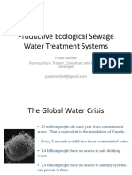 Productive Ecological Sewage Paulo Mellett WET System)