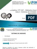 Aula 2 - Sistemas de Unidades - Manometria (1)