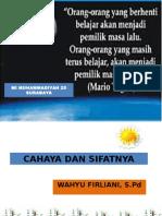 Sifat Sifat Cahaya Mi Muhammadiyah 25