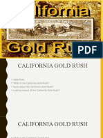 California Gold Rush History Presentation