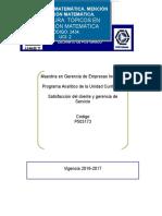 Programa Satisfaccion Del Cliente y Gerencia de Servicio 2016