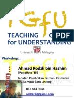TGfU Workshop - SHAPE UPM 2016