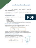 Aplicaciones de La Ecuación de La Energía
