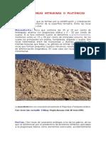 Rocas Ígneas Intrusivas o Plutónicas
